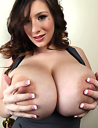 Lovely September showing her huge JJ-cup titties